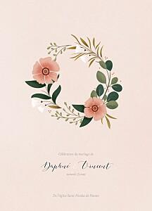 Livret de messe mariage rose daphné printemps
