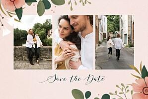 Save the date rose daphné printemps