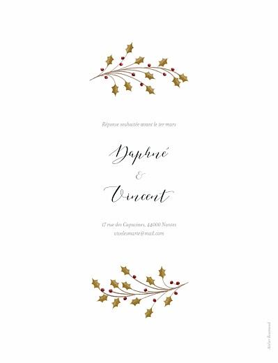 Faire-part de mariage Daphné hiver - Page 2