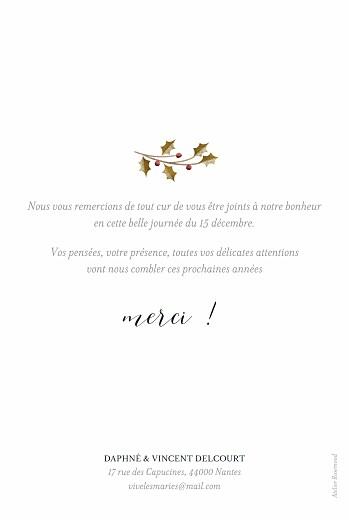 Carte de remerciement mariage Daphné hiver - Page 2