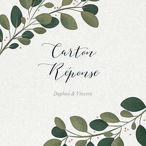 Carton réponse mariage beige daphné hiver