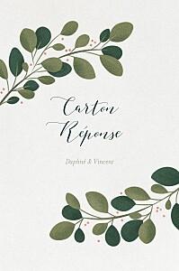 Carton réponse mariage beige daphné portrait hiver