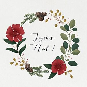 Carte de voeux classique daphné hiver