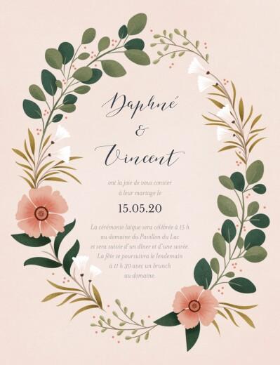 Faire-part de mariage Daphné printemps