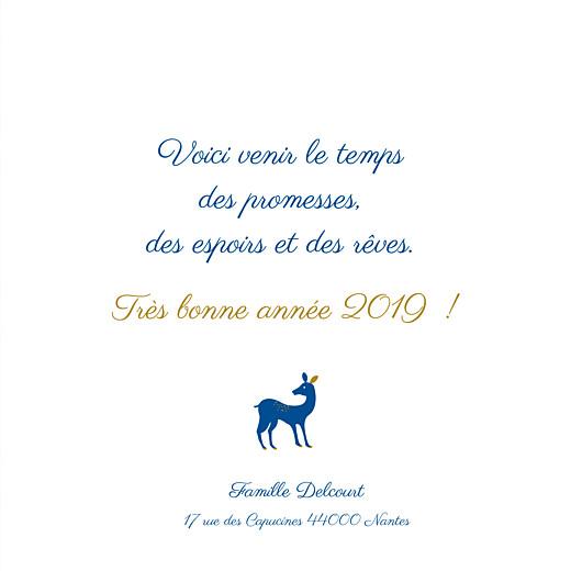 Carte de voeux Petites biches de noël bleu - Page 3