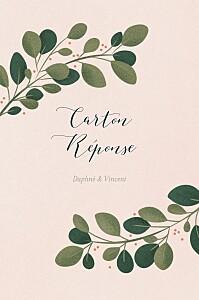Carton réponse mariage rose daphné portrait printemps