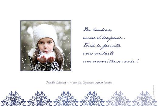 Carte de voeux Grâce indigo - Page 2