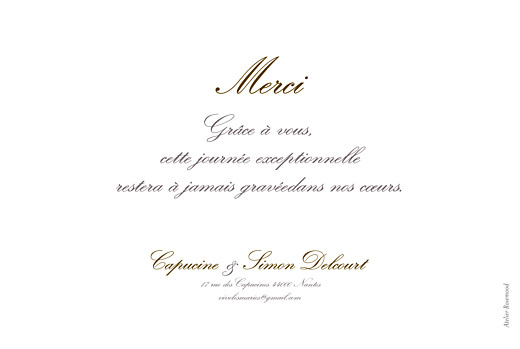 Carte de remerciement mariage Plein la vue ! (paysage) photo - Page 2