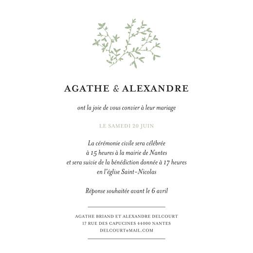 Faire-part de mariage Reflets dans l'eau blanc vert - Page 2