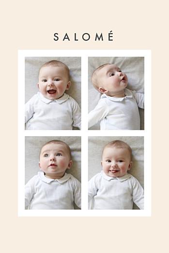 Faire-part de naissance Corner (dorure) beige
