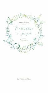 Menu de mariage original les hautes herbes 4 pages vert