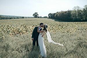 Carte de remerciement mariage les hautes herbes vert