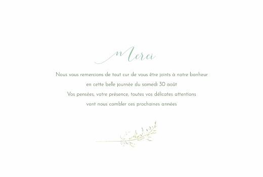 Carte de remerciement mariage Les hautes herbes vert - Page 3
