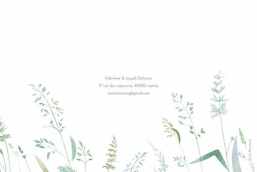 Carte de remerciement mariage Les hautes herbes vert - Page 4