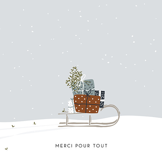 Carte de remerciement Merci winter family 2