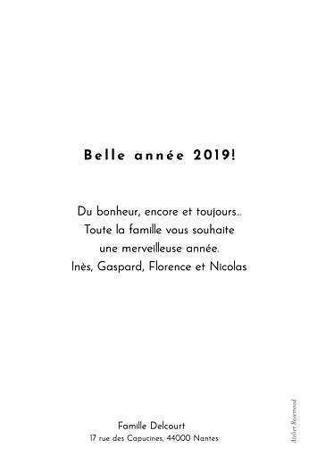 Carte de voeux Love more (dorure) blanc - Page 2