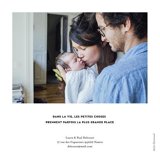 Faire-part de naissance Grand événement (simple) blanc - Page 2
