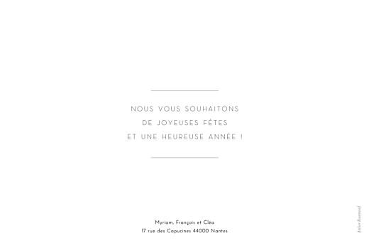 Carte de voeux Cadre paysage (dorure) blanc - Page 2