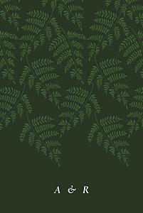 Faire-part de mariage cocorrina  joli sous-bois vert