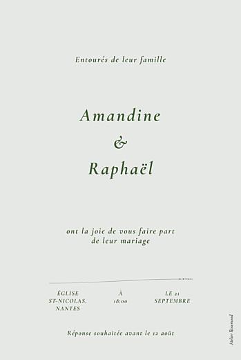 Faire-part de mariage Joli sous-bois vert - Page 2