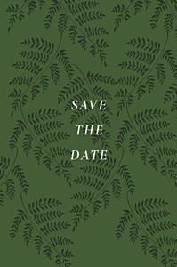 Save the date tous genres joli sous-bois vert