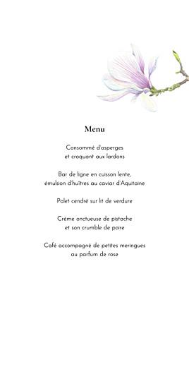 Menu de mariage Mélopée blanc - Page 3