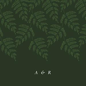 Faire-part de mariage cocorrina  joli sous-bois (4 pages) vert