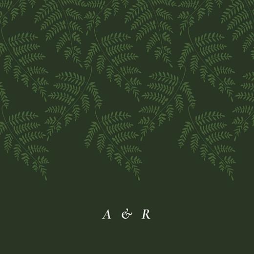 Faire-part de mariage Joli sous-bois (4 pages) vert