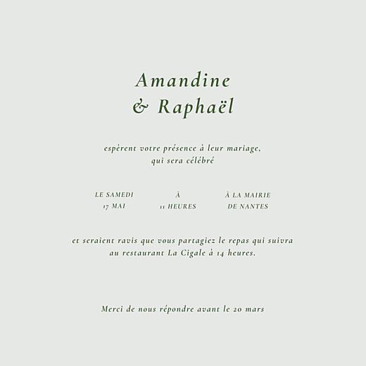 Faire-part de mariage Joli sous-bois (4 pages) vert - Page 3