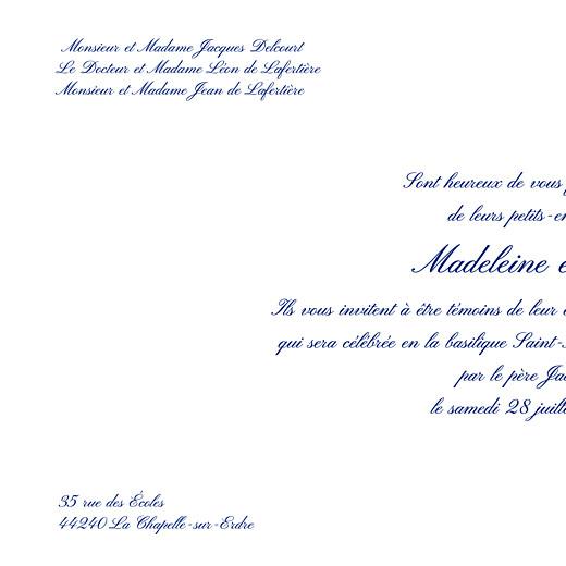 Faire-part de mariage Élégant photo blanc - Page 2