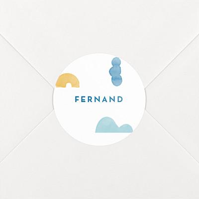 Stickers naissance totem bleu