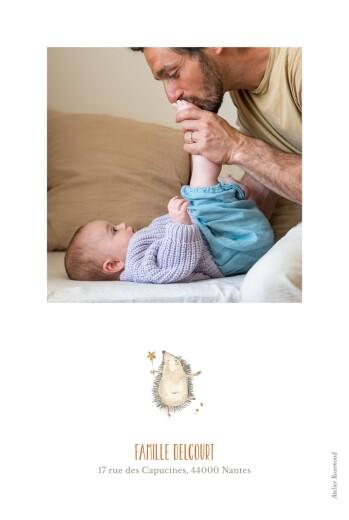 Faire-part de naissance La ronde des animaux blanc - Page 2