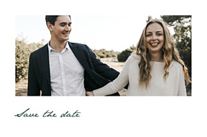Save the date classique eucalyptus blanc