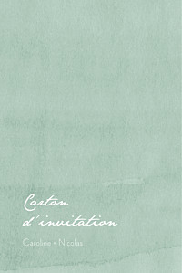 Carton d'invitation mariage blanc eucalyptus blanc