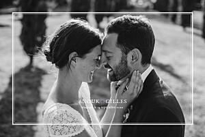 Carte de remerciement mariage bleu feuillage bleu