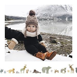 Carte de remerciement automne-hiver toundra blanc