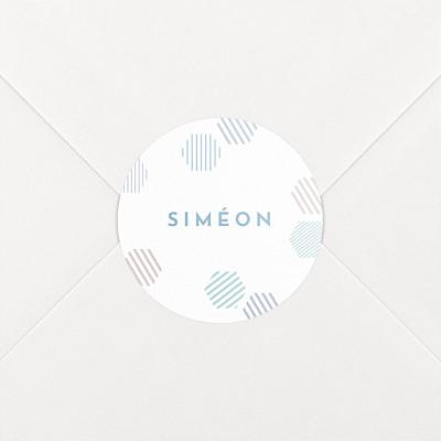 Stickers naissance hexagone bleu