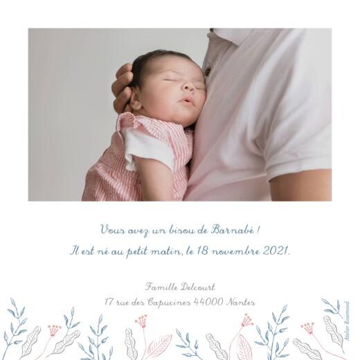 Faire-part de naissance Allégresse bleu - Page 2