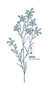 Menu de mariage original laure de sagazan bleu