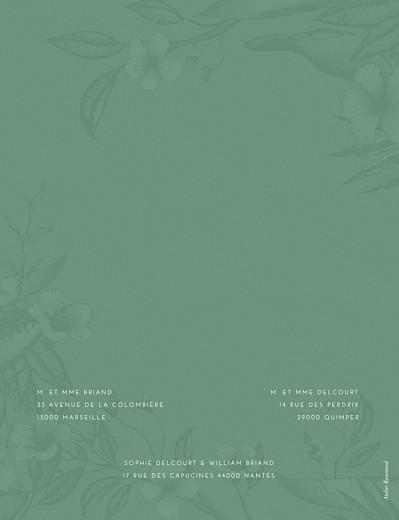 Faire-part de mariage Fleurs des îles vert - Page 2
