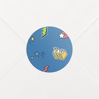 Stickers naissance super-héros bleu