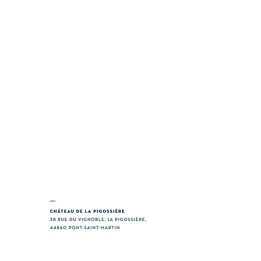Faire-part de mariage Laure de sagazan carré (dorure) bleu marine - Page 2
