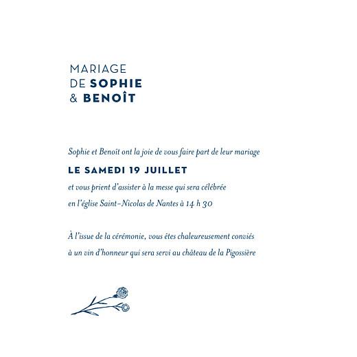 Faire-part de mariage Laure de sagazan carré (dorure) bleu marine - Page 3