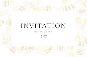Carton d'invitation mariage jaune sequins jaune