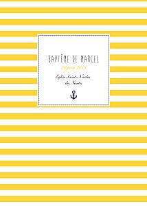Livret de messe jaune matelot jaune