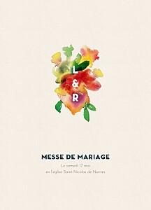 Livret de messe mariage tous genres bloom beige