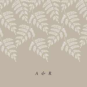 Faire-part de mariage beige joli sous-bois (4 pages) beige