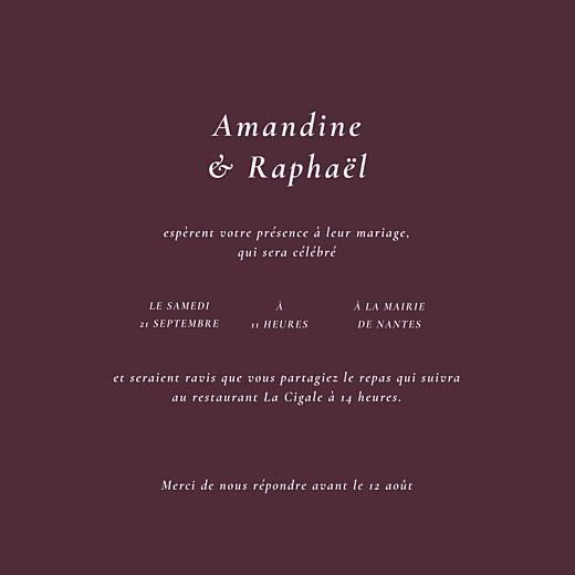 Faire-part de mariage Joli sous-bois (4 pages) beige - Page 3
