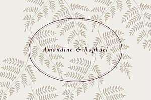 Carton réponse mariage beige joli sous-bois beige