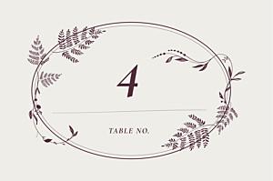 Marque-table mariage blanc joli sous-bois beige